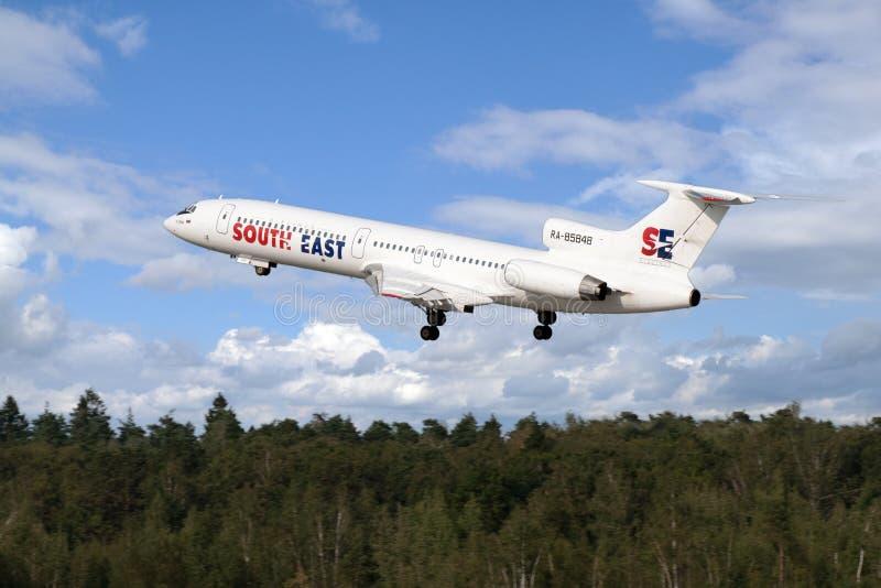 tupolev tu двигателя 154 воздушных судн стоковая фотография