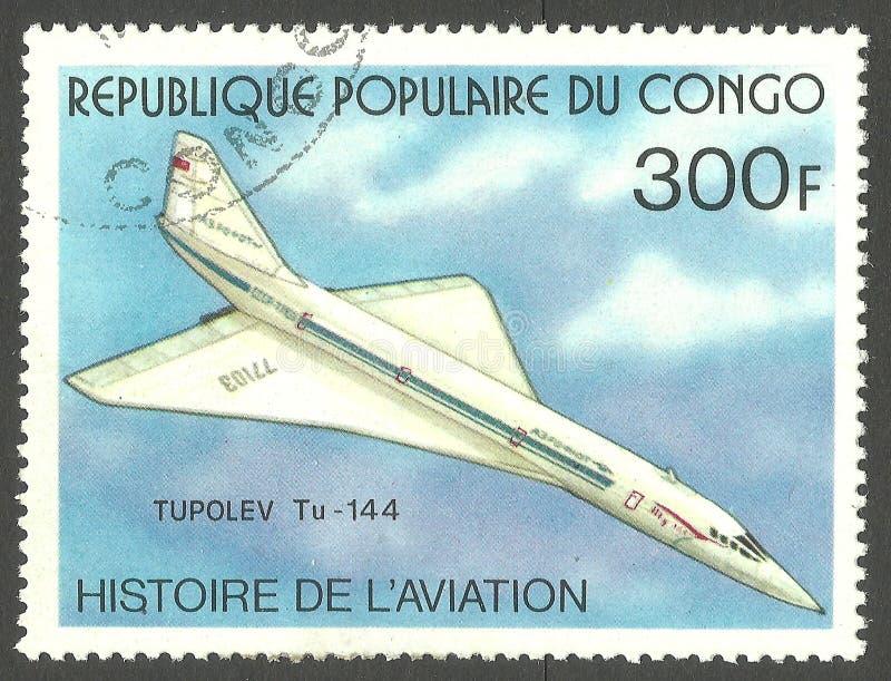 Tupolev Tu-144 lizenzfreies stockbild