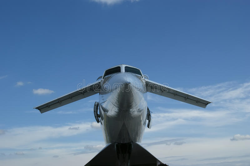 The Tupolev Tu-144 (NATO name: Charger). Was a Soviet supersonic transport aircraft, similar to the concord stock photography