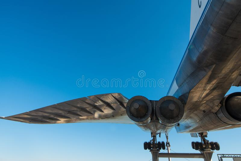 Tupolev Tu-144D imagem de stock