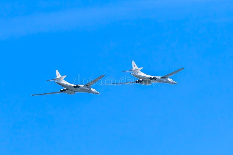 2 Tupolev Tu-22M3 (raté) s supersonique photographie stock libre de droits