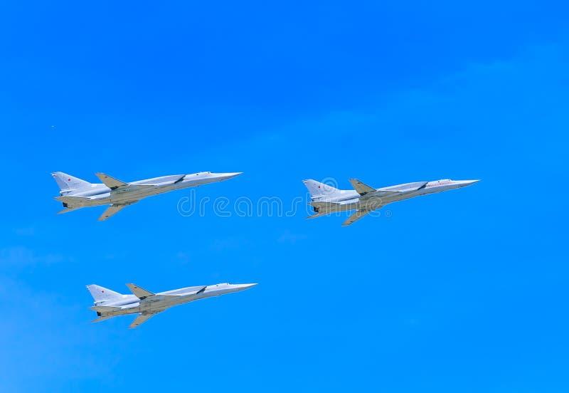 3 Tupolev Tu-22M3 (raté) supersonique photographie stock libre de droits