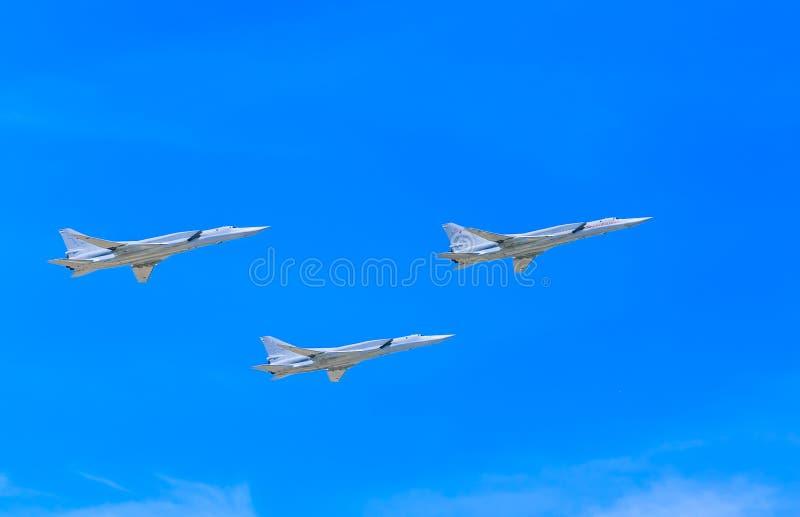 3 Tupolev Tu-22M3 (raté) supersonique photos stock