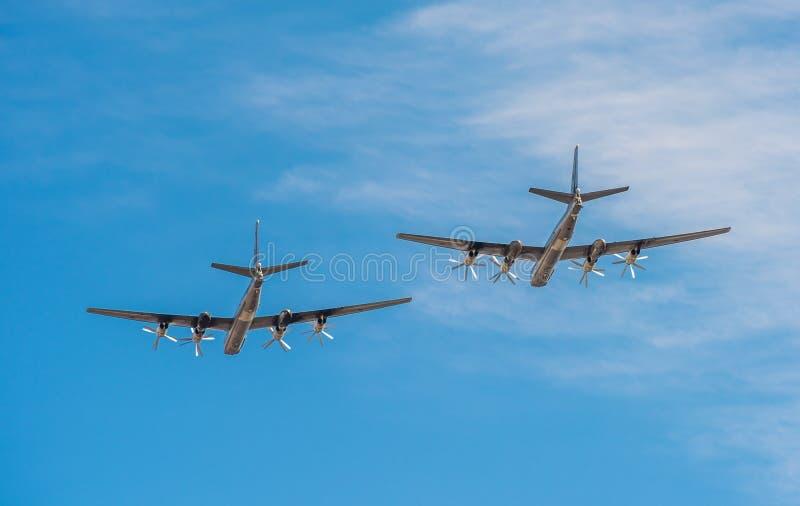 Tupolev Tu-95mc, bombardeiros estratégicos do russo imagem de stock