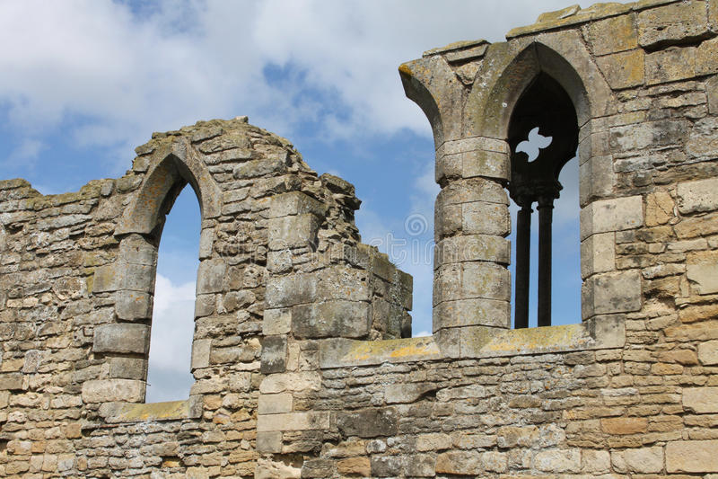 Tupolme修道院废墟,在Woodhall温泉林肯郡附近, 免版税图库摄影