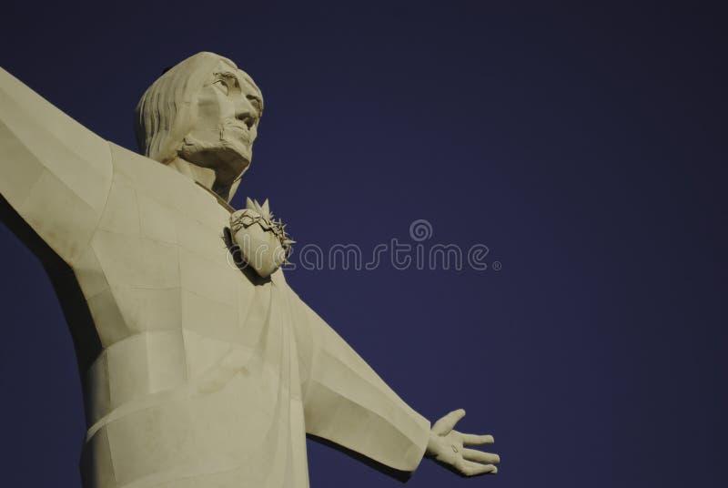 tupungato谷的基督国王  免版税库存图片