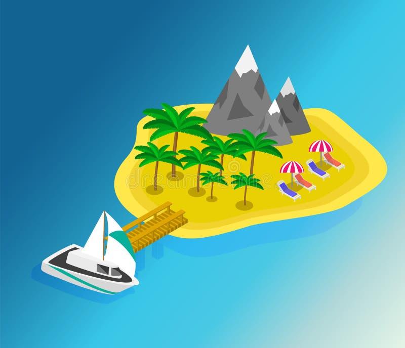 Tur till sommarferier Lopp till sommarferier royaltyfri illustrationer