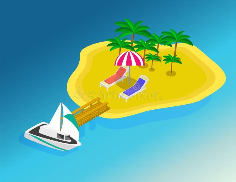Tur till sommarferier Lopp till sommarferier stock illustrationer