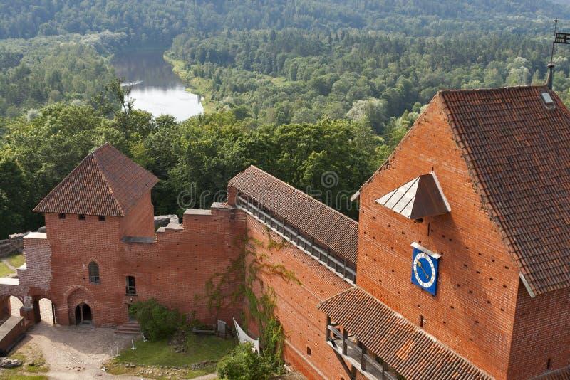 Turaida castle stock photos