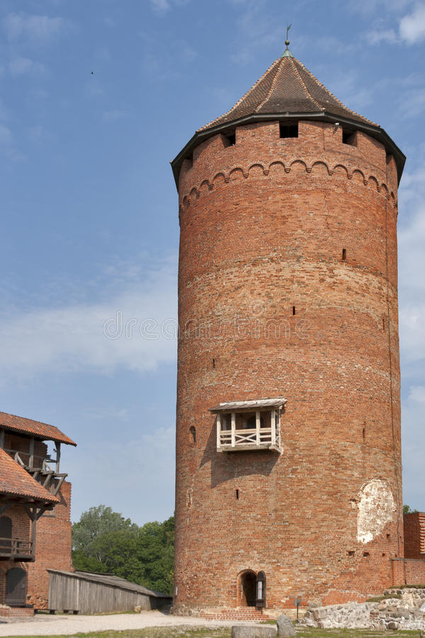 Turaida castle stock image