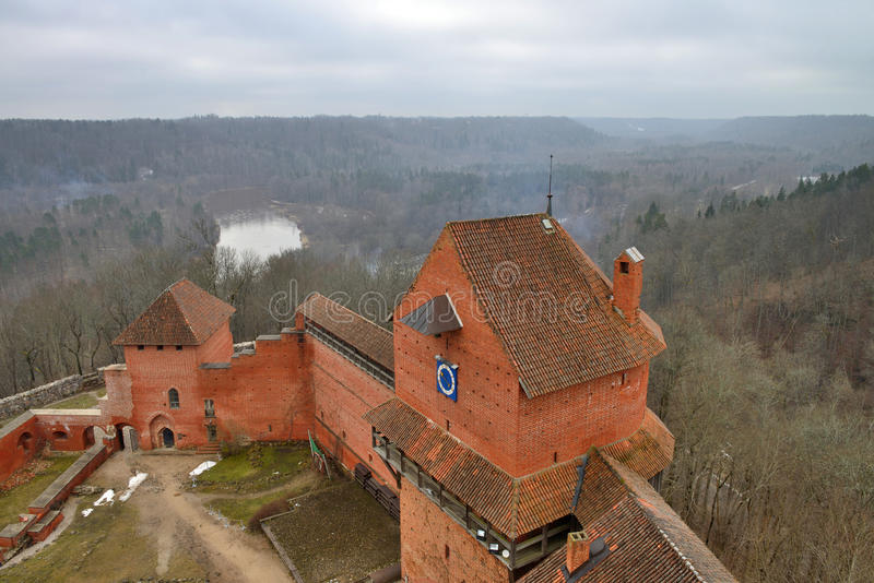 Turaidakasteel, Letland stock foto's