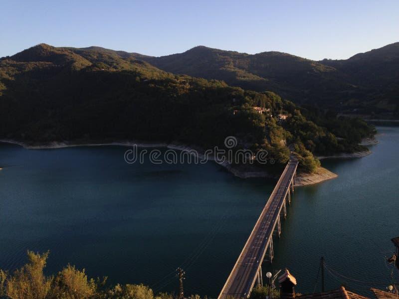 Turano jezioro obrazy royalty free