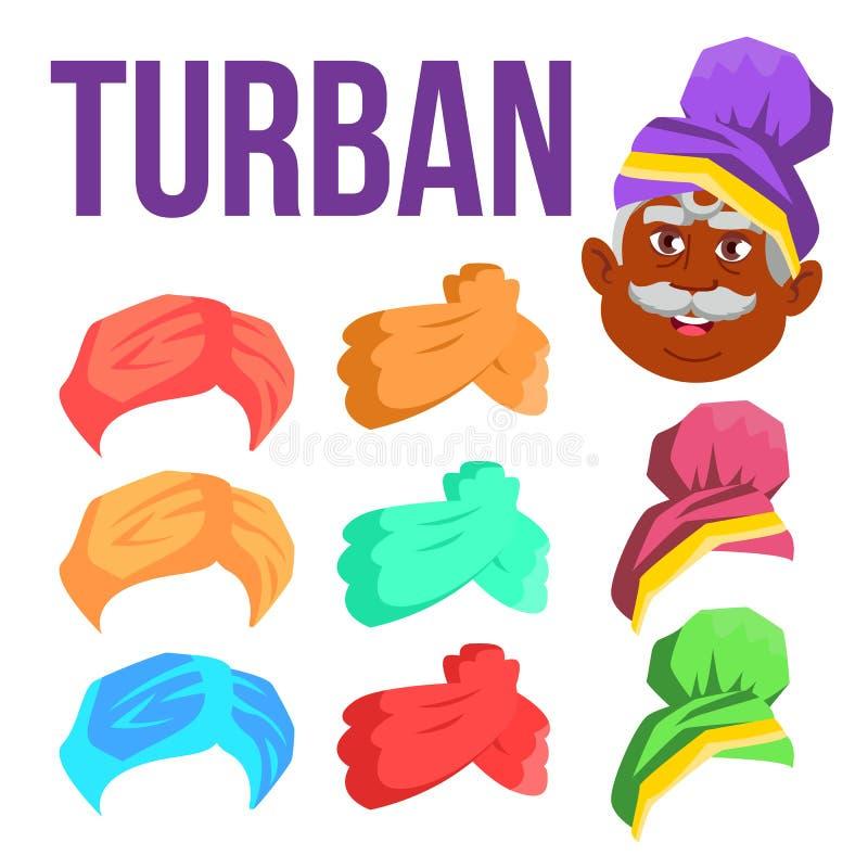 Turban Vector. Indian, Arabic Head Cap, Hat. Bedouin Headdress. Isolated Cartoon Illustration. Turban Vector. Indian, Arabic Head Cap, Hat. Bedouin Headdress vector illustration