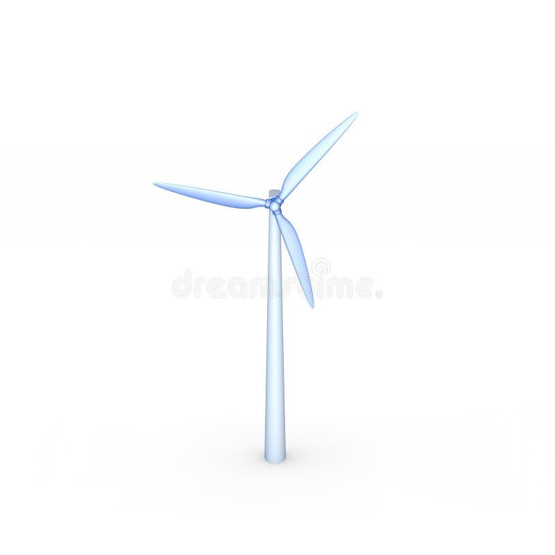 Turbin del viento Aislado en el fondo blanco illustra de la representación 3D ilustración del vector