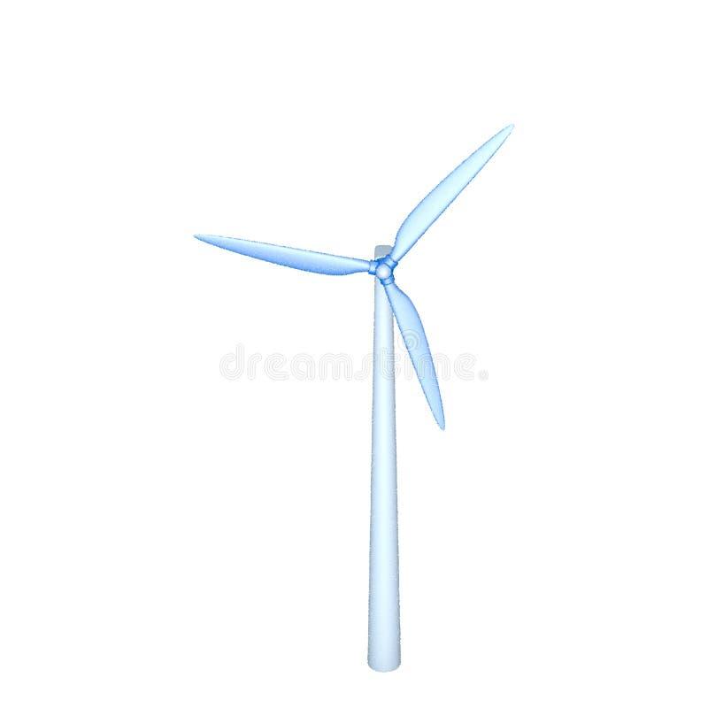 Turbin del viento Aislado en el fondo blanco Ilustración del vector ilustración del vector