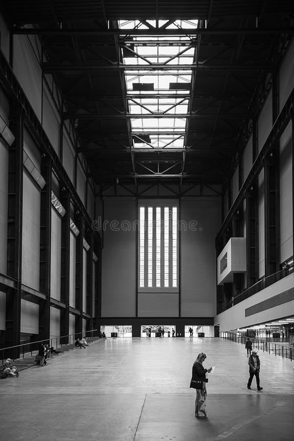 Turbina Corridoio di Tate Modern immagine stock libera da diritti