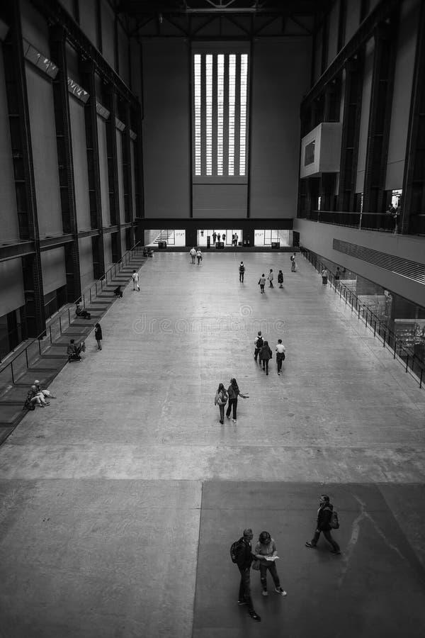 Turbina Corridoio di Tate Modern fotografia stock libera da diritti