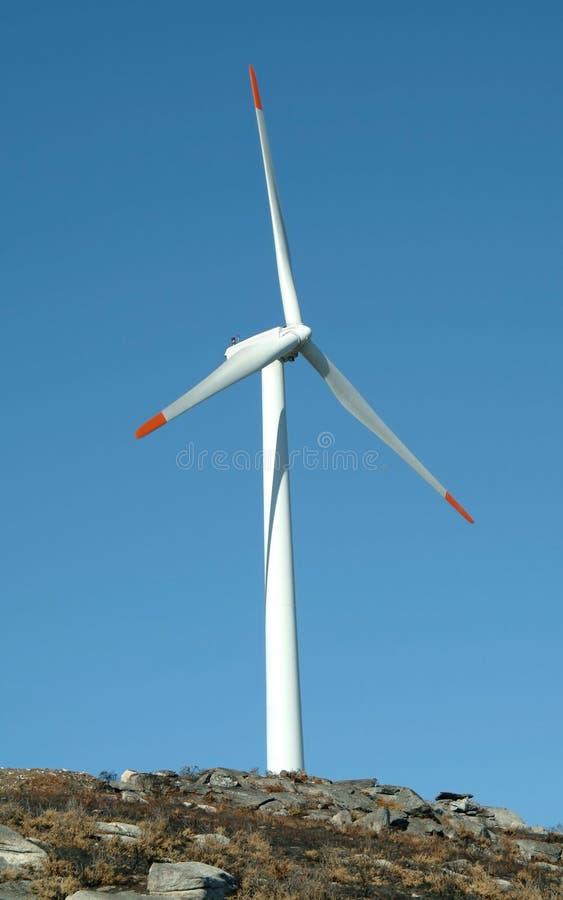 Turbina das energias eólicas fotografia de stock royalty free