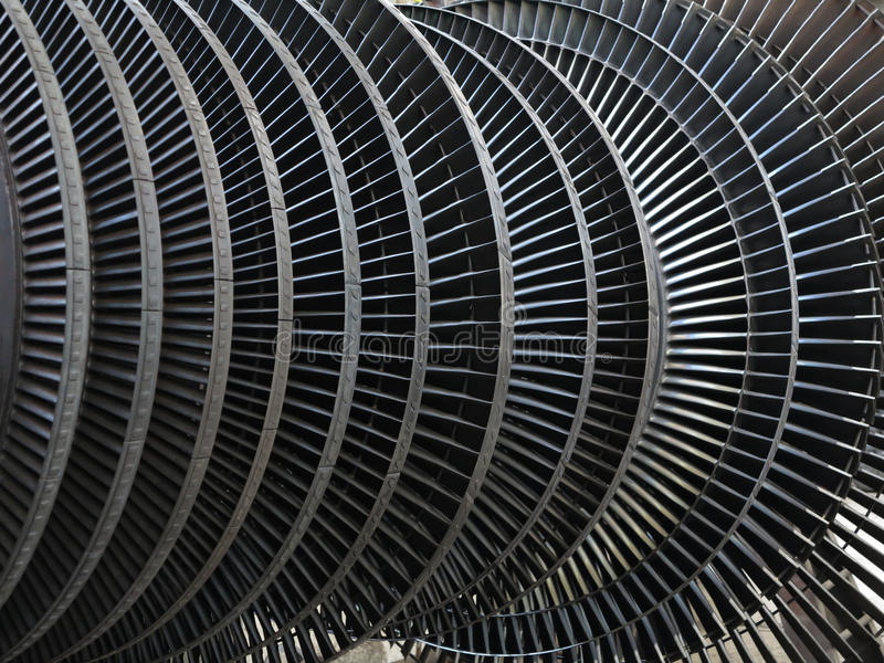 Turbina de vapor do gerador de poder durante o reparo no central elétrica fotos de stock royalty free
