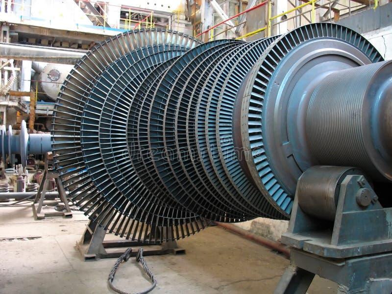 Turbina de vapor do gerador de potência durante o reparo fotos de stock