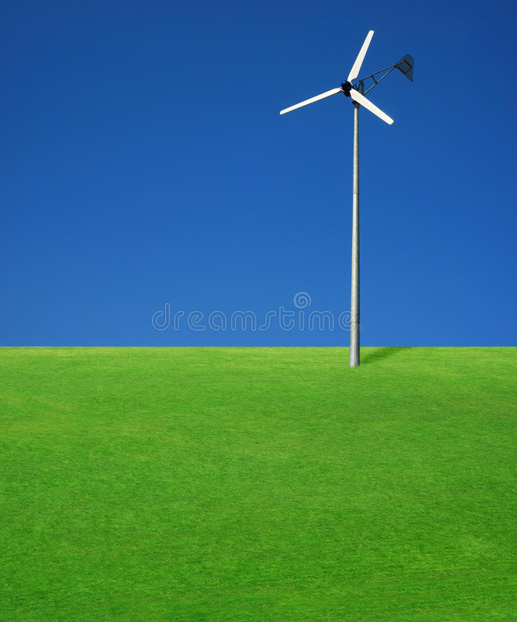 Turbina de vento fotos de stock