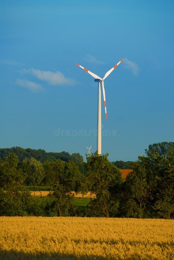 Turbina de vento imagens de stock