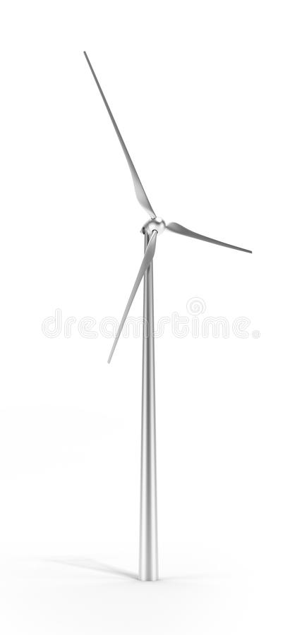 Turbina De Vento Do Metal Isolada Fotografia de Stock Royalty Free