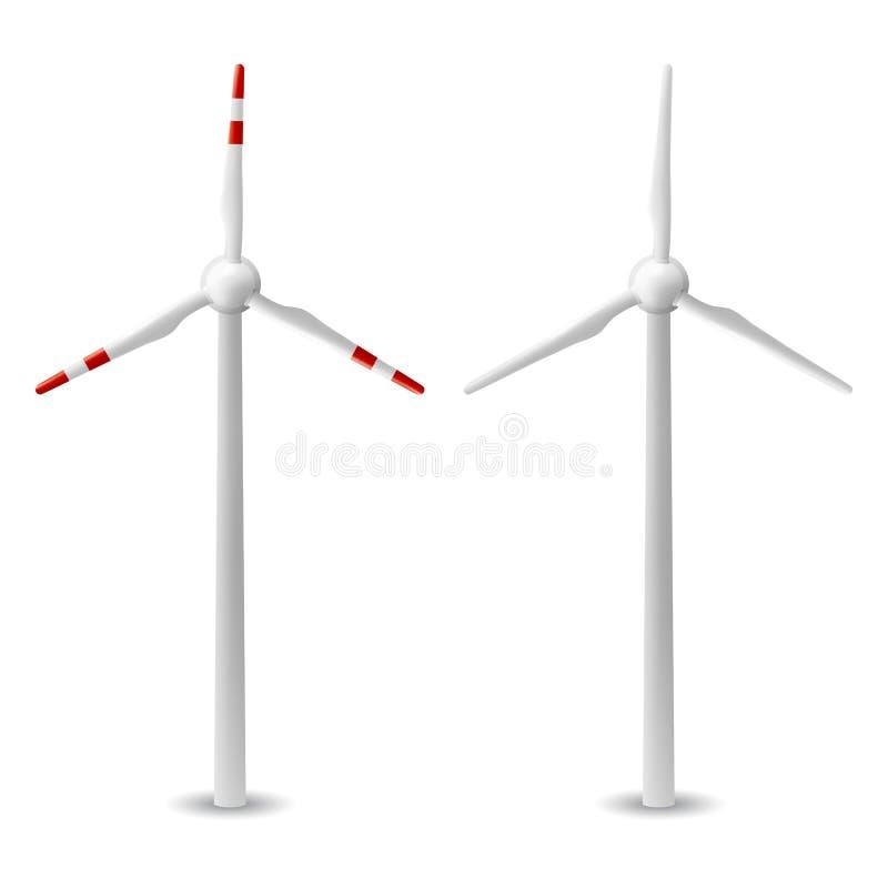 Turbina de vento isolada ilustração royalty free