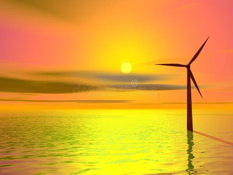 Turbina de viento libre illustration