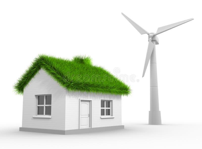 Turbina de viento ilustración del vector