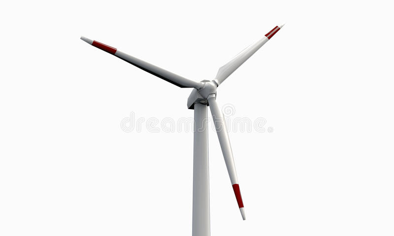 Turbina de viento stock de ilustración