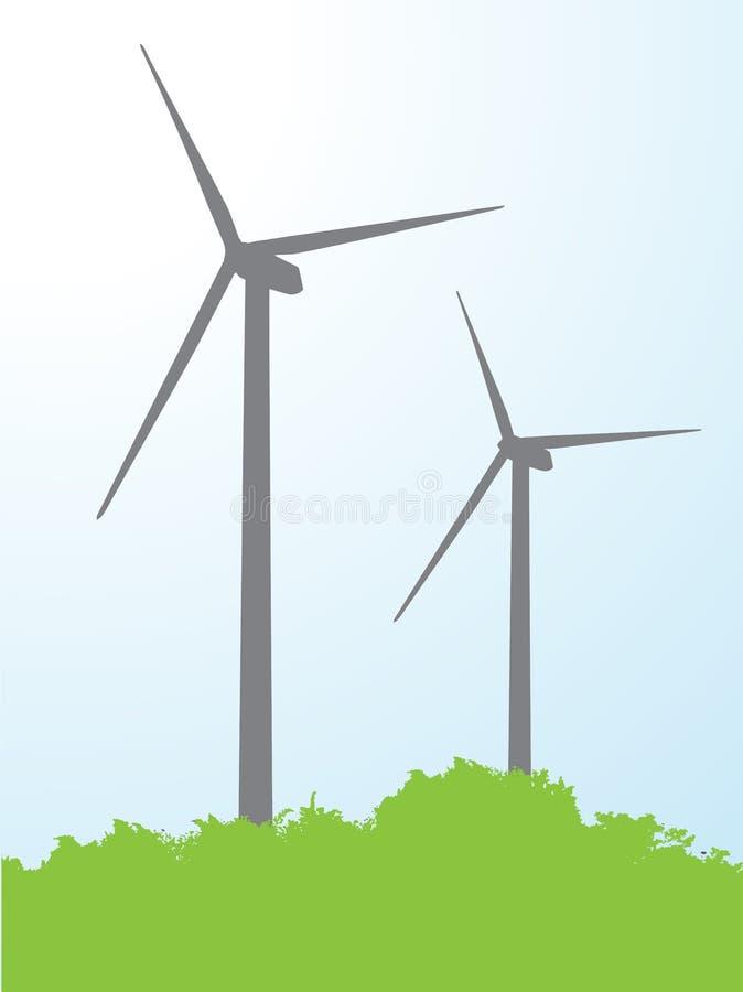 Turbina de viento del ejemplo ilustración del vector