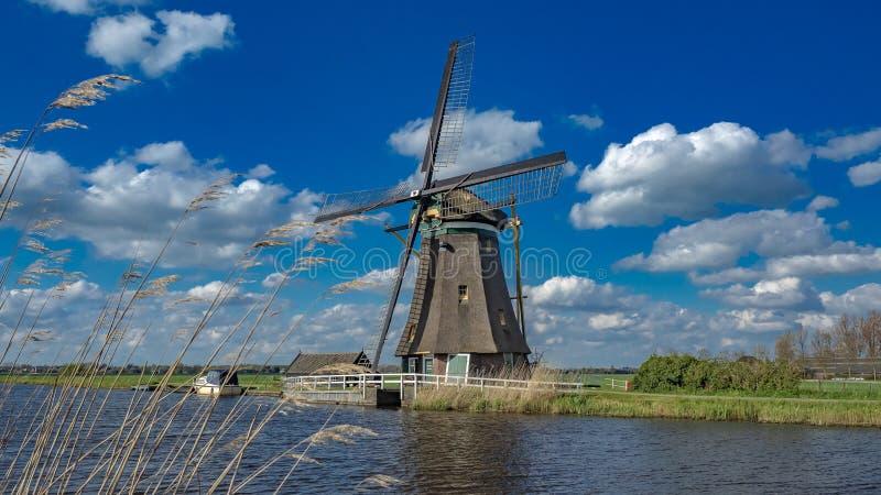 Turbina de viento del lago que genera una energía eólica fotografía de archivo libre de regalías