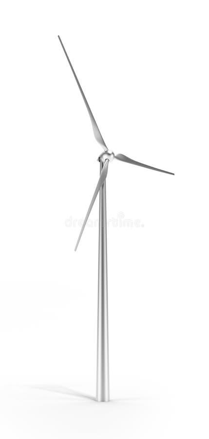 Turbina De Viento Del Metal Aislada Fotografía de archivo libre de regalías