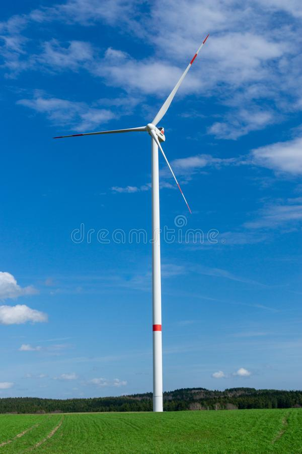 Turbina del molino de viento o de viento imágenes de archivo libres de regalías