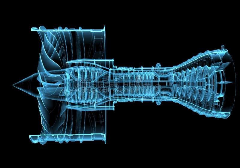 Turbina del motore a propulsione illustrazione vettoriale