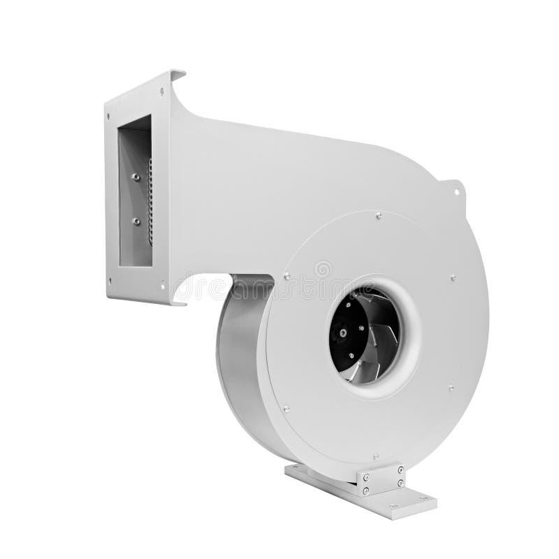 Turbina di grande compressore di condizionamento industriale o sistema di ventilazione isolato su fondo bianco fotografia stock libera da diritti