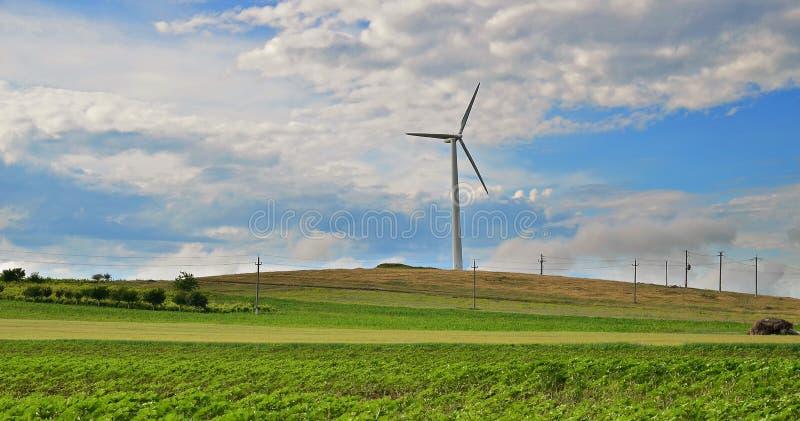 Turbina eólica fotografia de stock