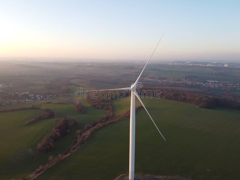Turbina eolica fotografia stock