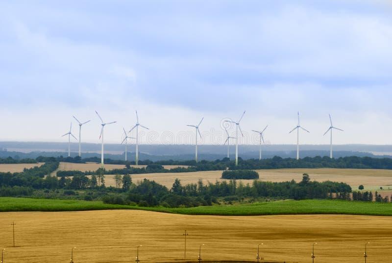 turbina krajobrazowy wiejski wiatr obraz royalty free