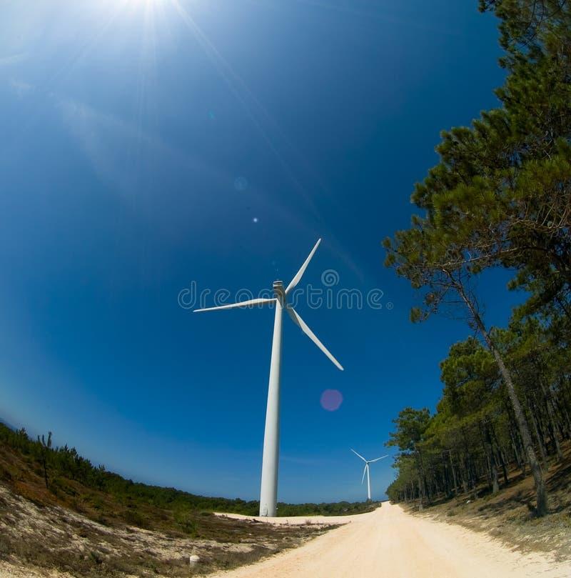 turbina młyński wiatr obraz royalty free