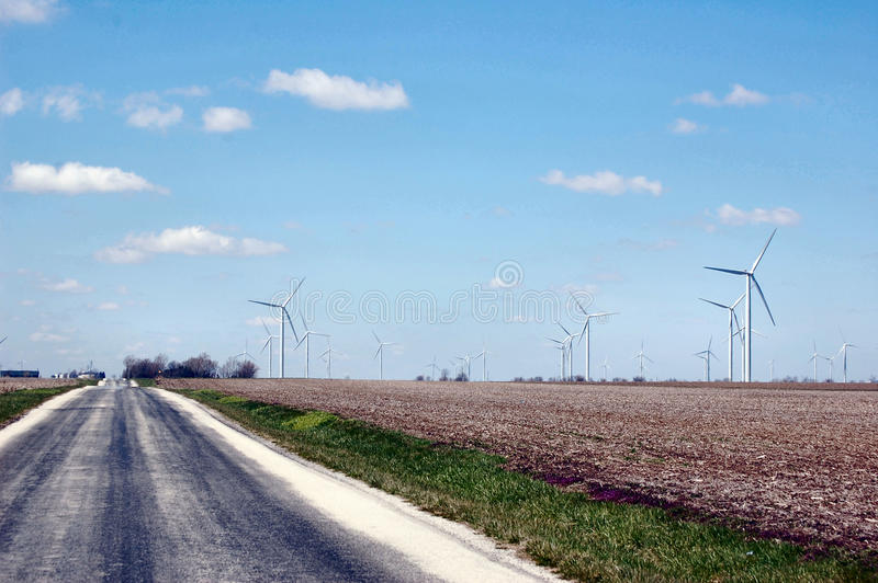 turbina napędowy rolny wiatr obrazy royalty free