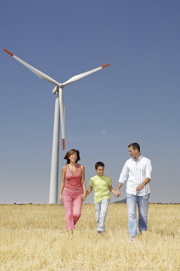 turbina rodzinny wiatr obraz stock