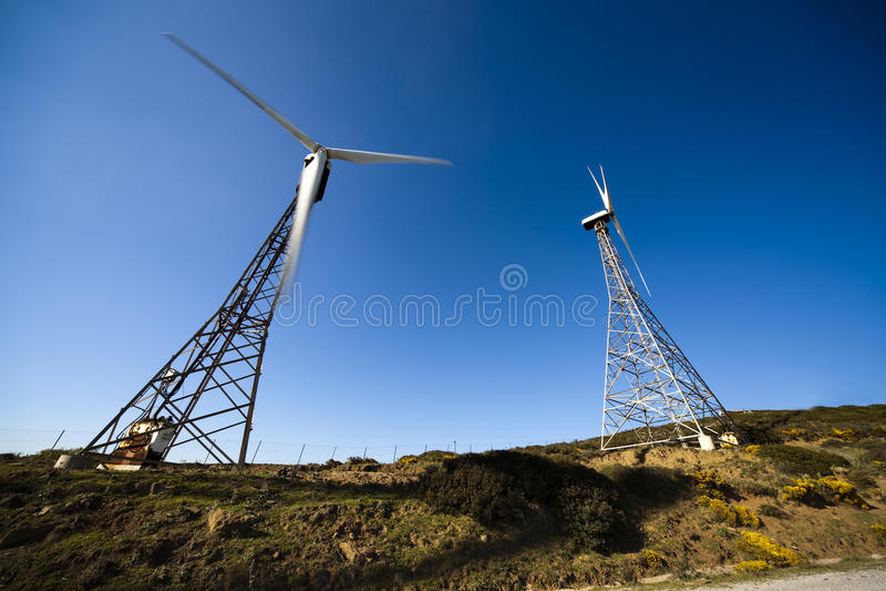turbina stary wiatr fotografia stock