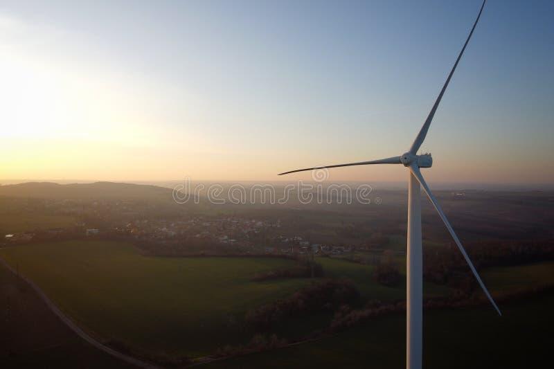 Turbina a vento fotografia stock
