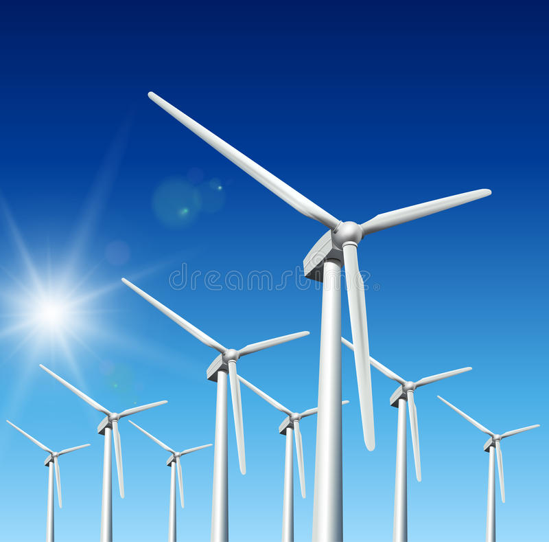 turbina wiatr ilustracji
