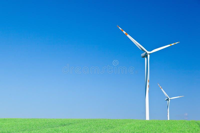 turbina wiatr dwa zdjęcia royalty free
