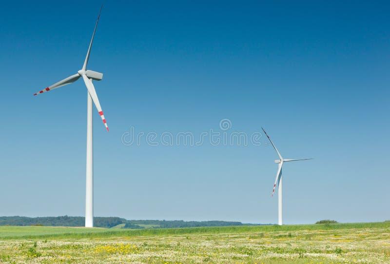 turbina wiatr dwa obraz royalty free