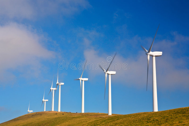 turbina wiatr rolnych zdjęcia stock