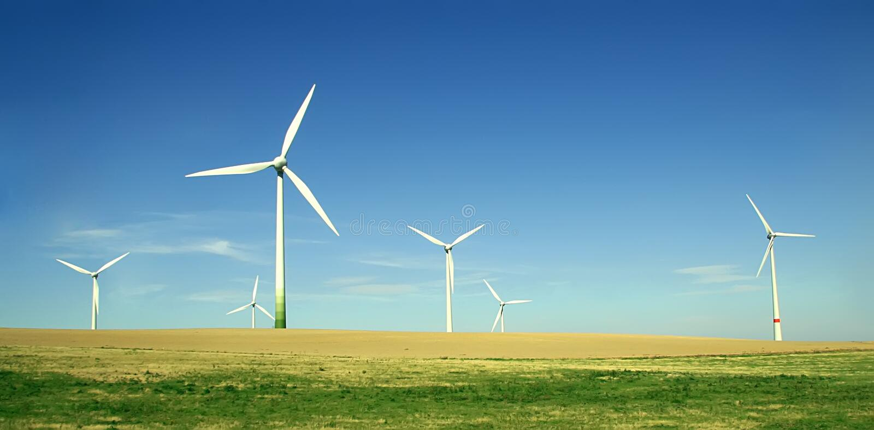 turbina wiatr rolnych obrazy royalty free